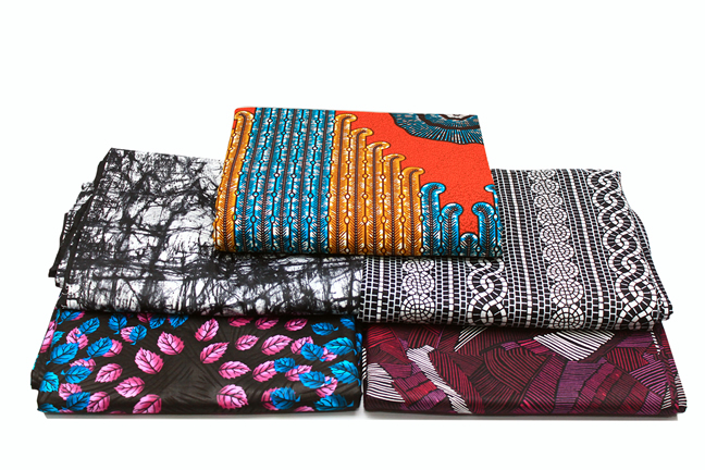 """Ankara and Adire Indigo """"Tied & Dyed Fabrics: These patterns and many more available in-store"""